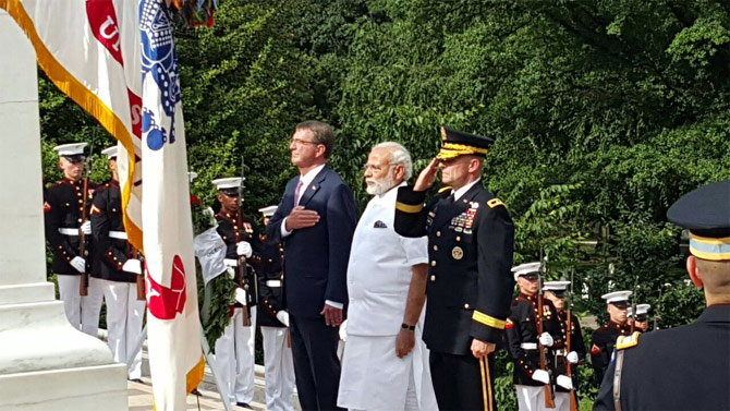 Modi In US Receives Grand Welcome