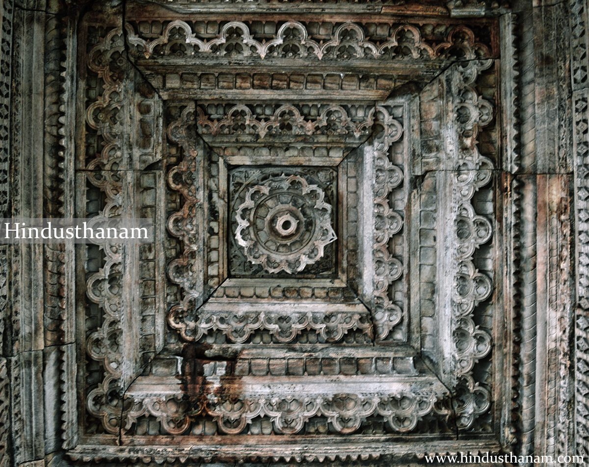 Carvings inside upper portions of Topkhana/ Sanskrit school