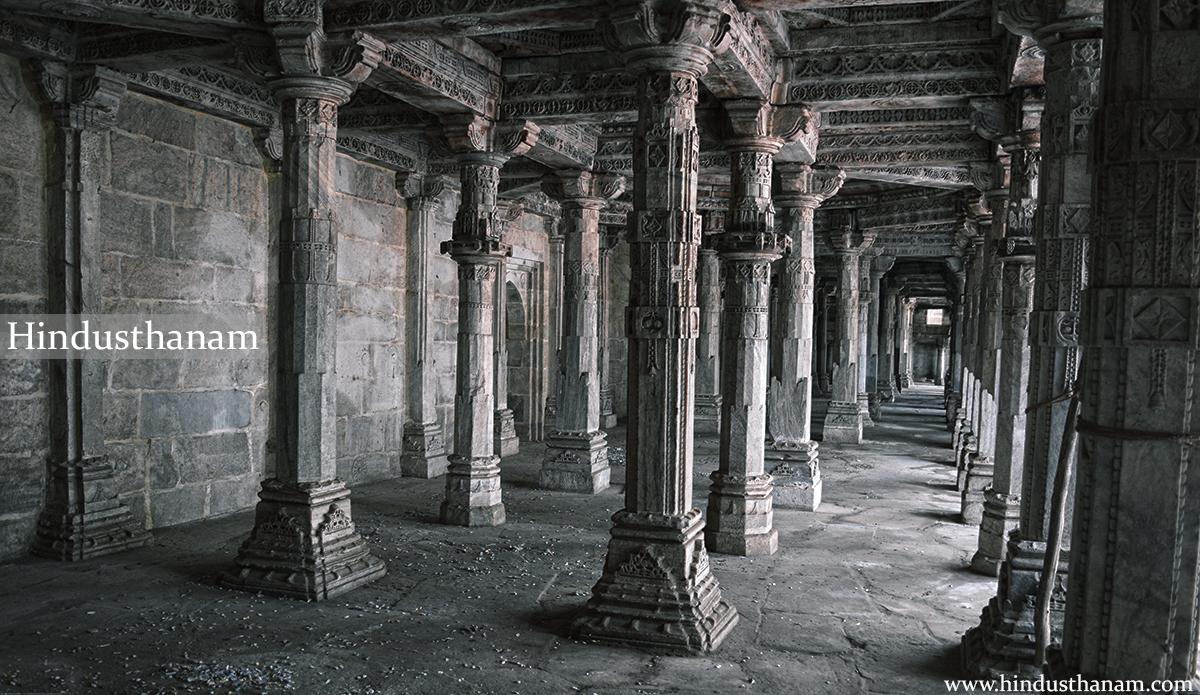 Pillars in Main compound of Topkhana/ Sanskrit school