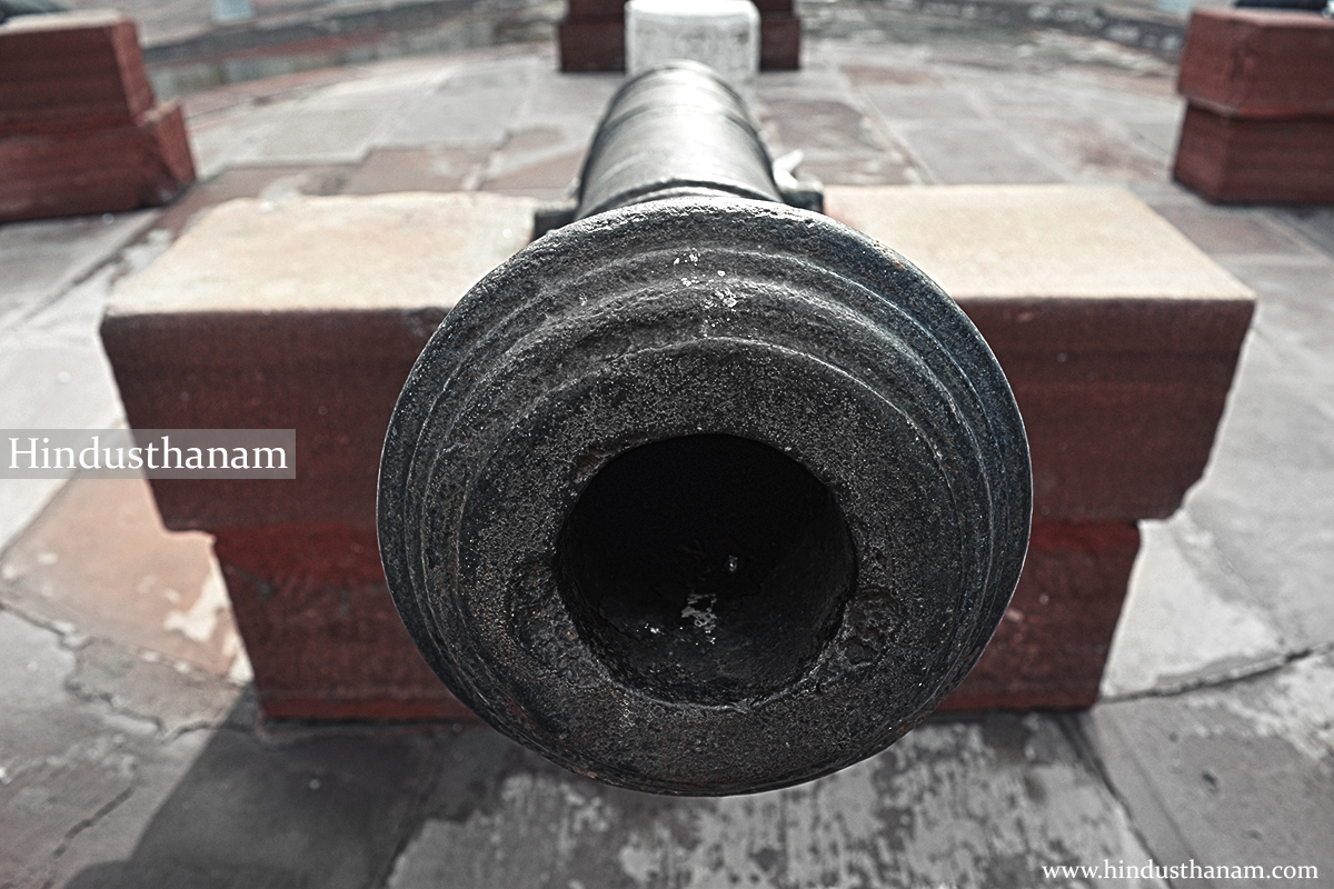 A cannon in Topkhana / Ancient sanskrit school
