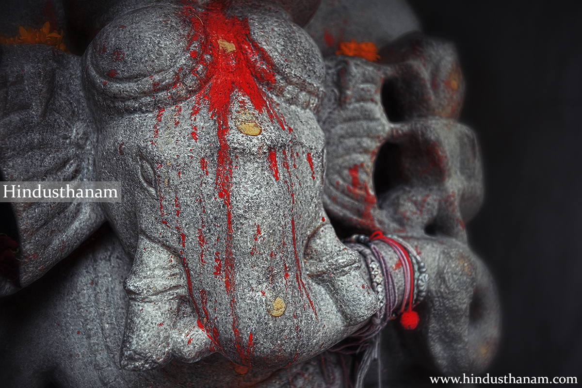Lord Ganesha in a temple inside the entrance of Ranakpur