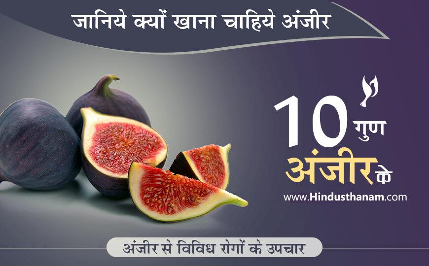 अंजीर के लाभ और विविध रोगों में उपयोग 10 Benefits of Figs or Anjeer in Hindi